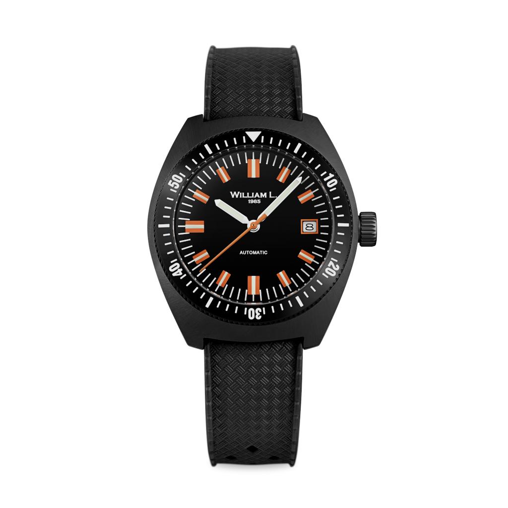 montre william l Automatic Vintage Diver 70's Style