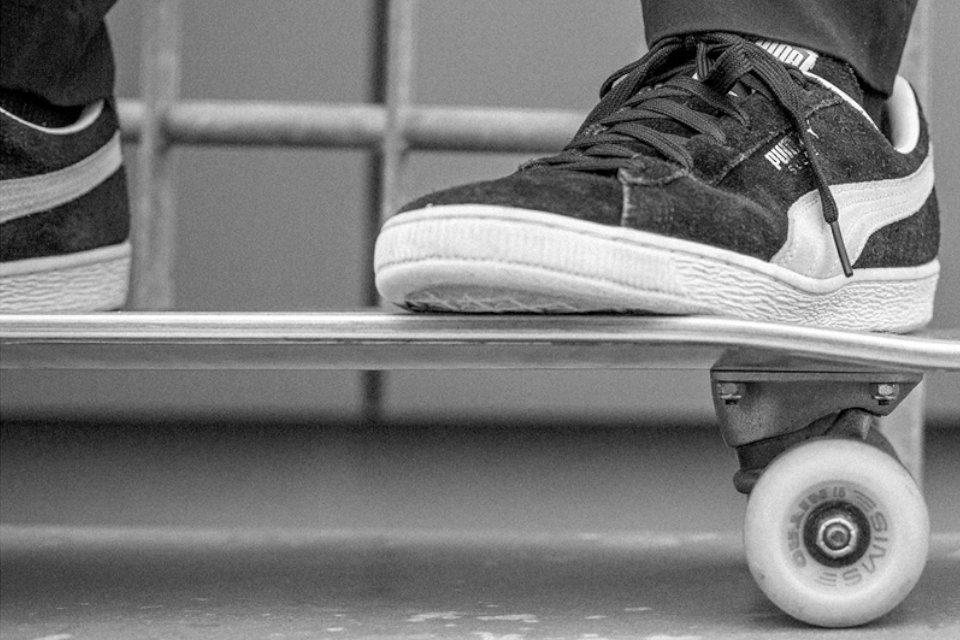 puma suede skateboarding